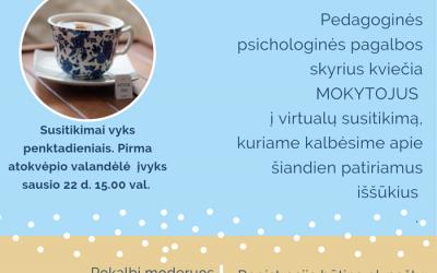 Pedagoginės psichologinės pagalbos skyriaus specialistų siūloma pagalba ugdymo įstaigų bendruomenėms: mokytojų grupei
