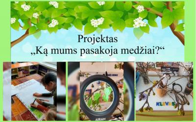 """Projektinės veiklos pristatymas """"Ką mums pasakoja medžiai"""""""