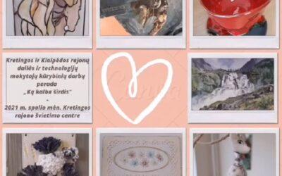 """Mokytojų kūrybinių darbų parodos """"Ką kalba širdis"""" atidarymas"""